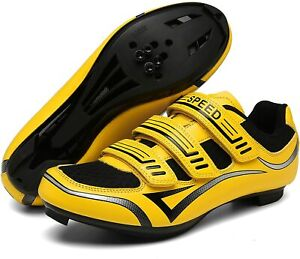 Unisex Mens Womens Road Bike Cycling Shoes with SPD-SL and Look Delta Cleat...
