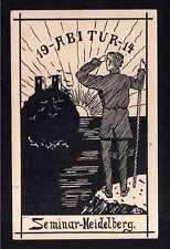 113367 AK Heidelberg 1914 Studentika Abitur Künstlerkarte