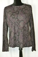 Ralph Lauren Long Sleeve Blouse Size Large Paisley Colorful Cotton Pullover Boho