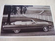 1966 CADILLAC DE VILLE CONVERTIBLE 11 X 17  PHOTO  PICTURE
