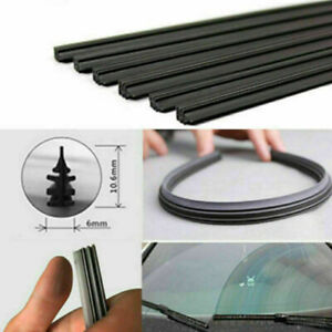 26'' 6mm Car Bus Silicone Universal Frameless Windshield Wiper Blade Refill Top