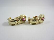 Elegante Ohrringe aus Gold 585 mit rosa Turmalinen und Brillanten