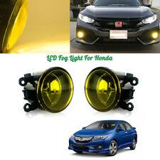 Pair Golden Yellow Left Right Fog Lights w/H11 Bulbs For Honda Civic Accord,etc