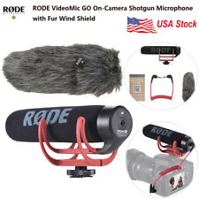 RODE VideoMic GO Super Cardioid Directional Microphone with Fur Mount Foam New
