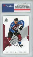 Nathan MacKinnon Colorado Avalanche Signed 2018-19 Upper Deck Authentic #85 Card