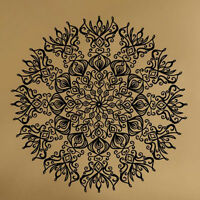 Mural Indian Floral Sun Flower Mandala Wall Sticker Home Decal Yoga Symbol Vinyl