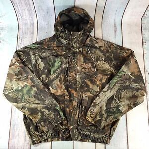 Mad Dog Gear Mens Bomber Jacket Coat Realtree Camo Camouflage Hood 2XL XXL