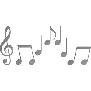 Set S Noten silber Violinschlüssel Notenschlüssel Musik Auto Aufkleber Tattoo