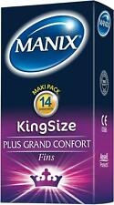 MANIX KING SIZE 14 préservatifs Grande Taille Latex