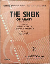 More details for the sheik of araby (new version) by ted snyder, harry smith & f. wheeler 1921