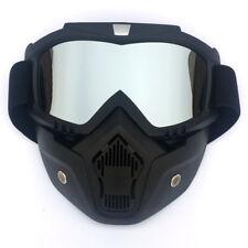 Modular Gafas de Moto Motocross Motocicleta Mascara Facial Desmontable Crucero