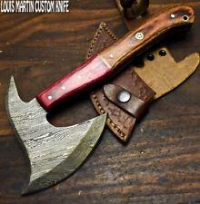 New listing Louis Martin Handmade Damascus Steel Hard Wood Hunting Clever Chopper Axe Knife