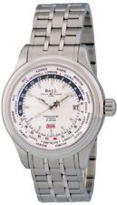 Ball Trainmaster Worldtime Automatic Steel Mens Watch Day/Date GM2020D-SCJ-WH