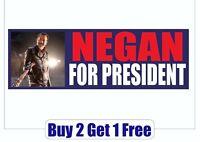 Negan for President 2020 Bumper Sticker - Trump The Walking Dead GoGoStickers