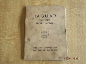 JAGUAR 2.4Litre Mk 2 (II) GENUINE Operating Maintenance Servicing Manual Drivers