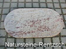 Tischplatte Naturstein Halbrund/ OVAL Marmorplatte f. Nähmaschinengestell Stein