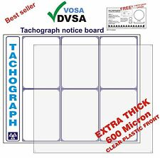 MOT SIGNS | MOT SIGN | OFFICIAL TACHOGRAPH NOTICE BOARD | VOSA | DVSA APPROVED