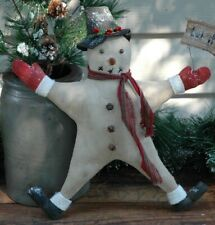 Folk Art Let It Snow Doll Pattern - Snowman Ornie Christmas Tree Topper