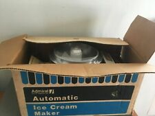 Admiral Automatic Ice Cream Maker New in Box For Refrigerator Mid century
