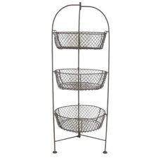 Metal Wire 3 Tier Basket Fruit Holder Vegetable Rack Storage Kitchen Stand