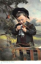 "Raphael Tuck ""Feeding The Pets"" Bird ""Our Pets"" Series #1426 Postcard"