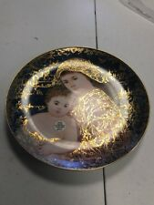 """Free Shipping, Edna Hibel Holiday """"And Unto Us a Child is Given"""" Art Plate"""