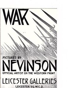 Unframed Poster Art War Ad Pictures from Western Front by Nevinson (199m)
