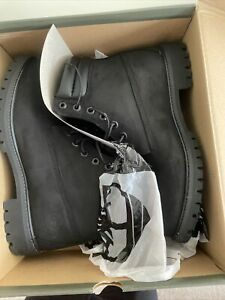 Timberland Premium 6in Waterproof Men's Boot Black Nubuck TB 073541 001