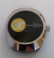 Vintage Lucerne 1970s Swiss Digital Jump Hour Manual Wind to Restore 35mm Case