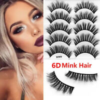 5Pairs 6D Multipack Mink Hair False Eyelashes Wispy Fluffy Long Natural Lashes