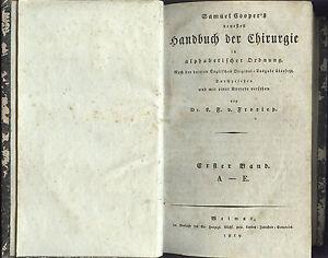 CHIRURGIE HANDBUCH Medizin Standardwerk 1819 - 1823 interessantes ORIGINAL!