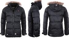 Geographical Norway hombre muy Cálido chaqueta de invierno Parka XL negro