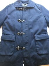 Plectrum by Ben Sherman Navy Toggle Firemans Waxed Raincoat Coat Jacket Small