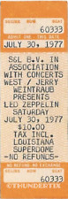 1 Led Zeppelin Vintage Unused Full Concert Ticket 1977 New Orleans La Laminated