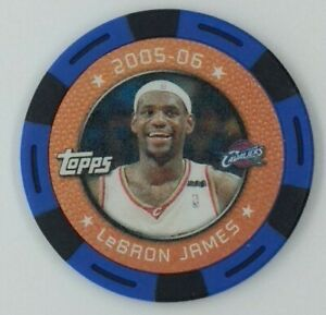2005-06 Topps NBA Collector Chips Blue Lebron James, Cleveland Cavaliers