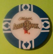 MICHELOB AMBER BOCK BEER / WORLD POKER TOUR BLUE CHIP GREAT FOR ANY COLLECTION!