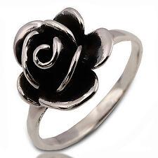 ROSE FLOWER 925 STERLING SILVER RING THAILAND Size.US=6,UK=L