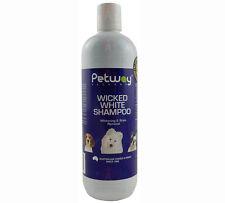 PetWay Wicked White Shampoo 500ml Dog Cat Puppies Kittens Gentle Wash Whitening