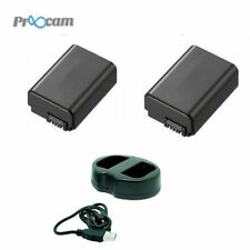 Proocam Sony NP-FW50 FW50 Compatible Battery/2pcs W/ Kingma Dual Battery Charger