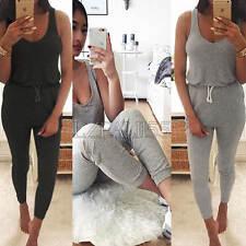 Womens Sport Loungewear Set Sweatshirt Joggers Tracksuit Pants Playsuit UK 6-14