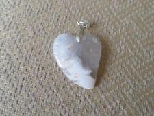 Scenic Dentritic Opal Heart Pendant