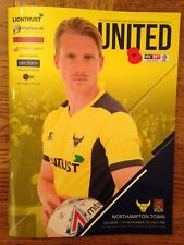 Oxford United v Northampton Town - league 1 : Played 11th November 2017 - Mint