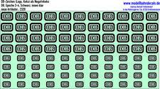 DB-Zeichen Logo Keks, Schwarz, DB - NEU Siebdruck Kreye Decals, 120-2320