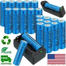20X UltraFire 18650 Battery 3.7V Li-ion Quality Rechargeable Batteries & Charger