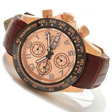 New Mens Invicta 10942 Speedway Elegant Automatic Swiss Valjoux 7750 Brown Watch