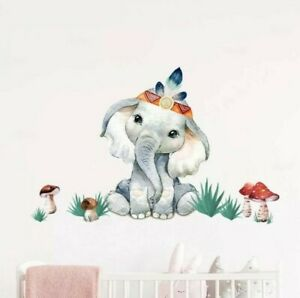 Cute Animals Removable Wall Nursery Babies Kids Decoration Stickers Decals Room