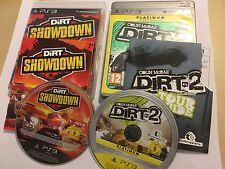 PLAYSTATION 3 PS3 GAME COLIN MCRAE DIRT 2 / II & SHOWDOWN BOTH COMPLETE PAL