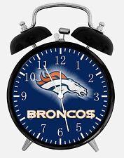 Denver Broncos Alarm Schreibtisch Uhr 9.5cm Heim oder Büro Dekor E94 Schön