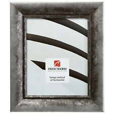 """Craig Frames Vintage Verandah, 2"""" Silver & Black Picture Frame"""