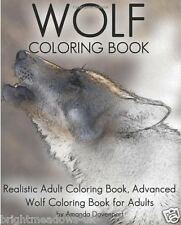 Realistic Wolves Wolf Animal Adult Colouring Book Mystical Fantasy Paws 1 Sided